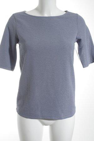 Stile Benetton Kurzarm-Bluse grauviolett schlichter Stil
