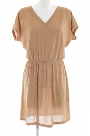 Stile Benetton Kurzarmkleid nude meliert Casual-Look