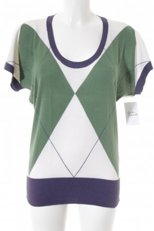 Stile Benetton Short Sleeve Sweater check pattern casual look