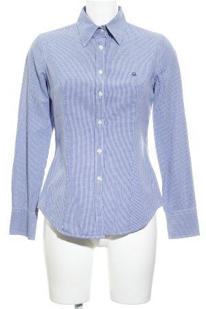 Stile Benetton Langarmhemd dunkelblau-weiß Karomuster Casual-Look