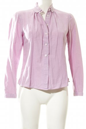 Stile Benetton Langarmhemd rosa Casual-Look