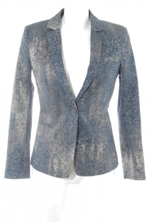 Stile Benetton Long-Blazer abstraktes Muster Business-Look