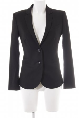 Stile Benetton Long-Blazer schwarz 90ies-Stil