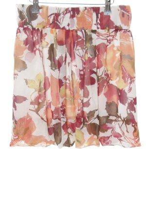 Stile Benetton Minirock Blumenmuster Street-Fashion-Look