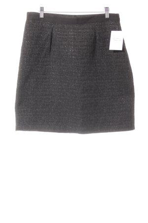 Stile Benetton Minirock schwarz abstraktes Muster Glitzer-Optik