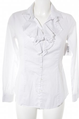 Stile Benetton Ruffled Blouse white casual look