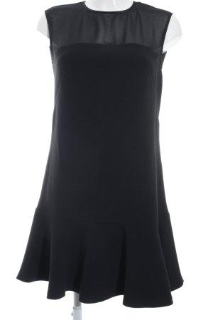 Stile Benetton Schößchenkleid schwarz Elegant