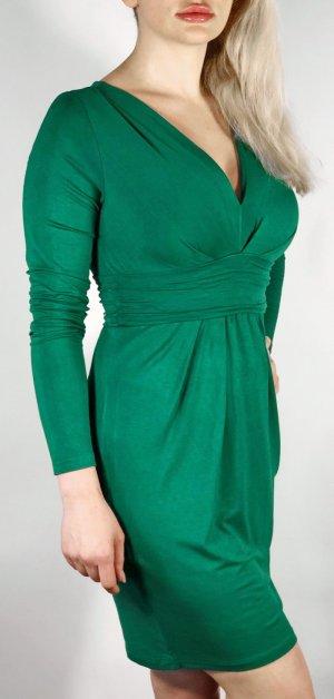 Benetton Stretch Dress forest green viscose