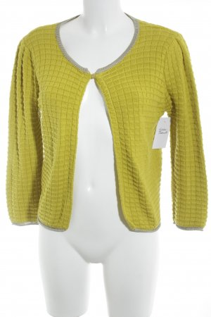 Stile Benetton Strickjacke silberfarben-limettengelb Casual-Look