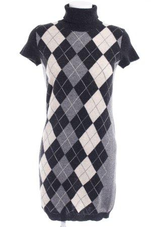 Stile Benetton Robe en maille tricotées motif à carreaux style décontracté