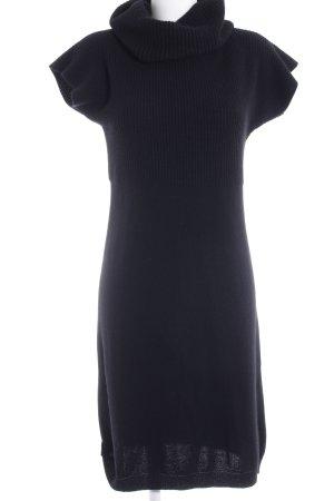 Stile Benetton Abito di maglia nero stile casual
