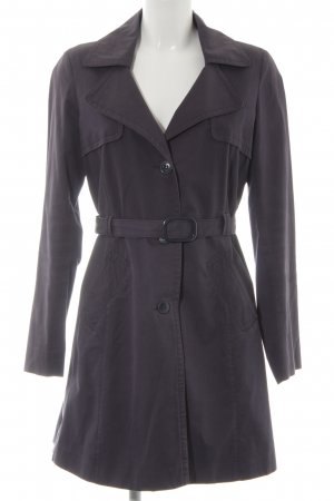 Stile Benetton Trenchcoat blau Street-Fashion-Look