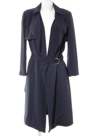 Stile Benetton Trenchcoat dunkelblau Business-Look