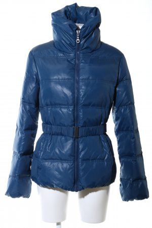 Stile Benetton Winterjacke blau Steppmuster Casual-Look