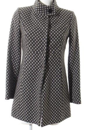Stile Benetton Wolljacke schwarz-hellgrau Punktemuster Elegant