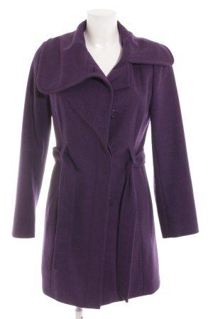 Stile Benetton Cappotto in lana viola scuro stile casual