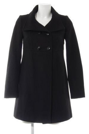 Stile Benetton Wollen jas zwart casual uitstraling