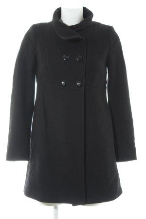 Stile Benetton Wollmantel schwarz schlichter Stil