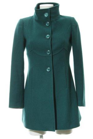 Stile Benetton Wollmantel waldgrün schlichter Stil
