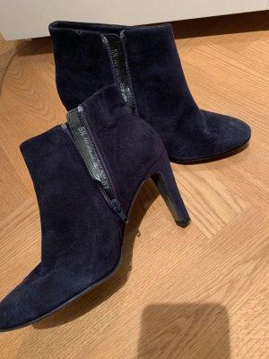 Kennel + schmenger Zipper Booties dark blue leather