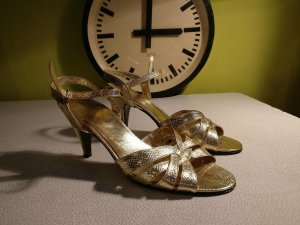 Made in Italy High Heel Sandal gold-colored leather