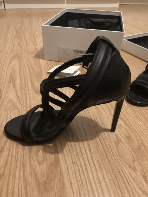 Hugo Boss High Heel Sandal black leather