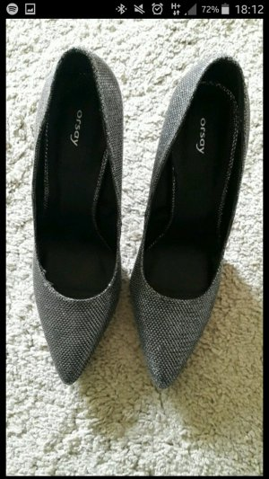Stilettos Pumps gr. 38 silber