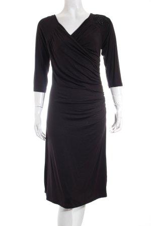 Stills Jerseykleid schwarz Wickel-Look