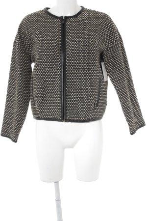 Stills Kurz-Blazer schwarz-sandbraun abstraktes Muster Business-Look