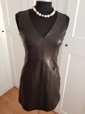Diane von Furstenberg Leather Dress black leather