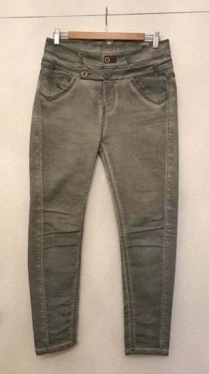 Tigerhill Biker jeans grijs Katoen