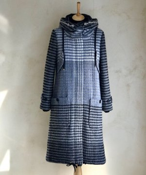 TwinSet Simona Barbieri Manteau à capuche multicolore laine