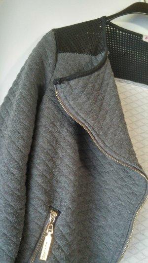 Cop Copine Knitted Blazer dark grey-black