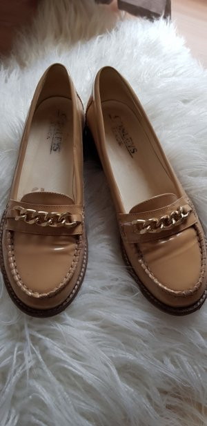 Conleys Patent Leather Ballerinas camel leather