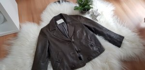 3.1 Phillip Lim Leather Jacket grey brown leather