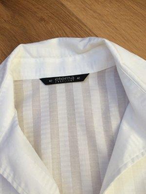 Stilvolle weiße ETERNA EXCELLENT Bluse mit  3/4 Arm in Gr. 42