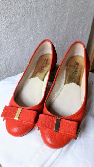 Michael Kors Foldable Ballet Flats bright red leather