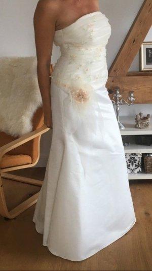 Stilvolles Brautkleid weiß/rosé Gr.36/38