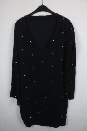 Stine Goya Kleid Blusenkleid Gr. S schwarz mit gold Pailletten (18/3/146)