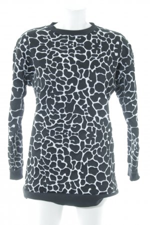Stine Goya Sweatshirt schwarz-weiß Allover-Druck Casual-Look