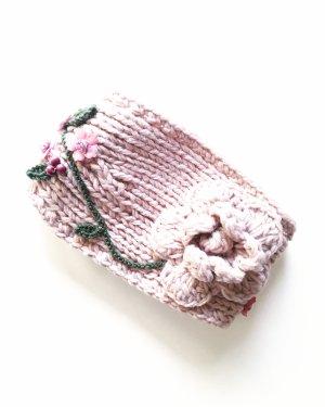 Vintage Sombrero de tela rosa empolvado