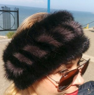Earmuff black-grey pelt
