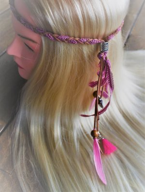 Stirnband Haarfedern Hippes Hairstyling Hippie Haarband Indianer Pocahontas Kopfschmuck Indian Style Ethnostil Featherheads Haarschmuck Haare Festival Boho Feder Federn