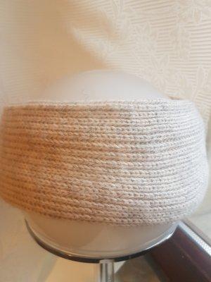 Stirnband hellgrau/beige mit Innenfutter