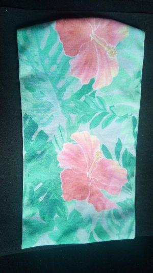 Stirnband Pastellfarben Blüten floral Sommer Hawaii