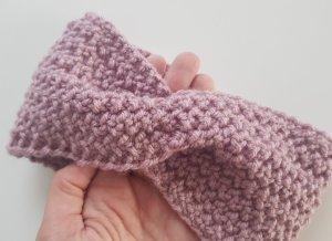 Sombrero de punto rosa empolvado Fibra sintética