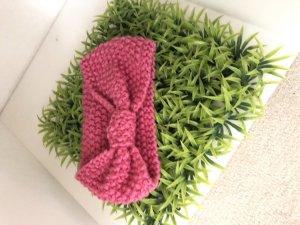 Gebreide Muts roze-roze
