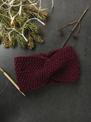 Earmuff bordeaux-dark red
