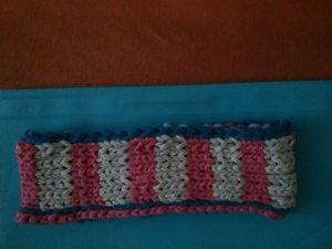 Cache-oreilles multicolore coton
