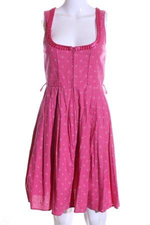 Stockerpoint Dirndl pink Blumenmuster Elegant